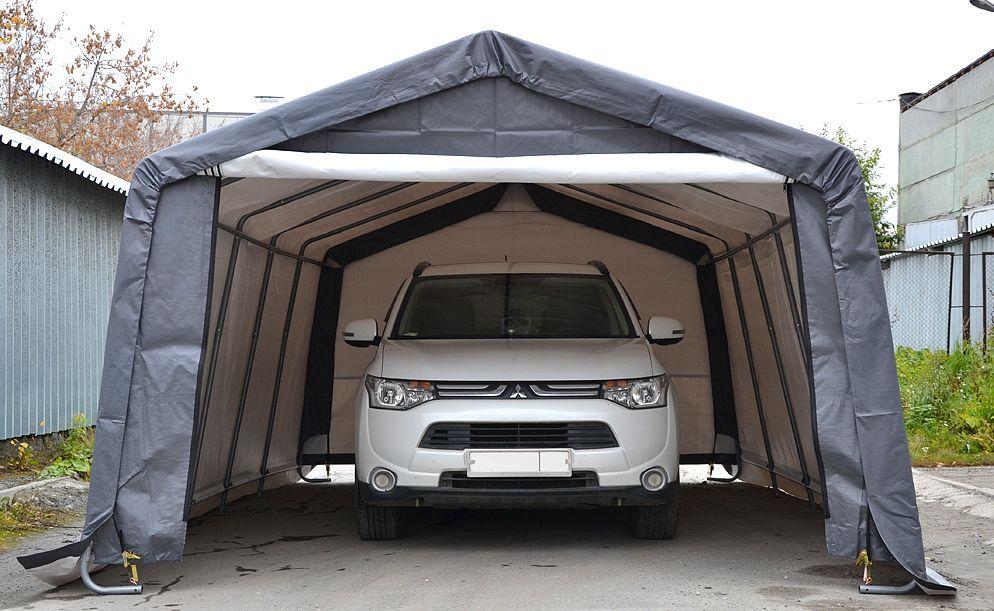 Тент гараж для автомобиля своими руками 99
